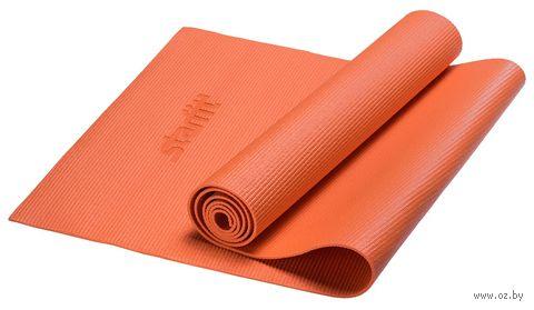 Коврик для йоги FM-101 (173x61x0,4 см; оранжевый) — фото, картинка