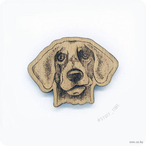 "Значок деревянный ""Ретривер"" (арт. 0018) — фото, картинка"