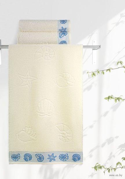 """Полотенце махровое """"Ракушки"""" (35х70 см; ваниль) — фото, картинка"""