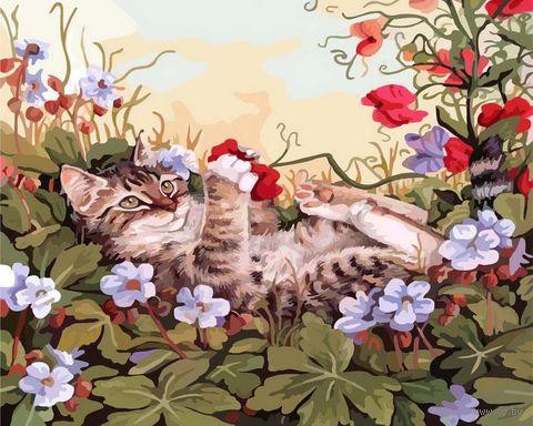 "Картина по номерам ""Кошкины забавы"" (300х400 мм) — фото, картинка"