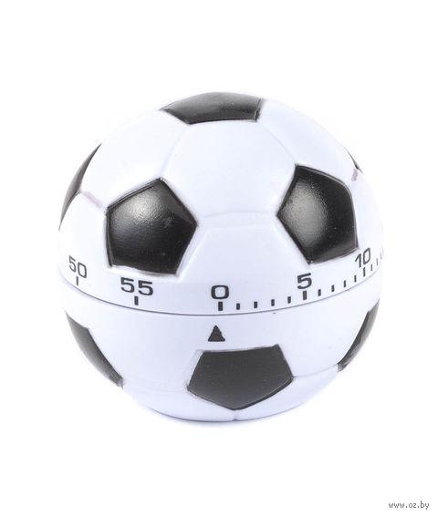 """Таймер кухонный пластмассовый """"Футбольный мяч"""" (70х67 мм)"""