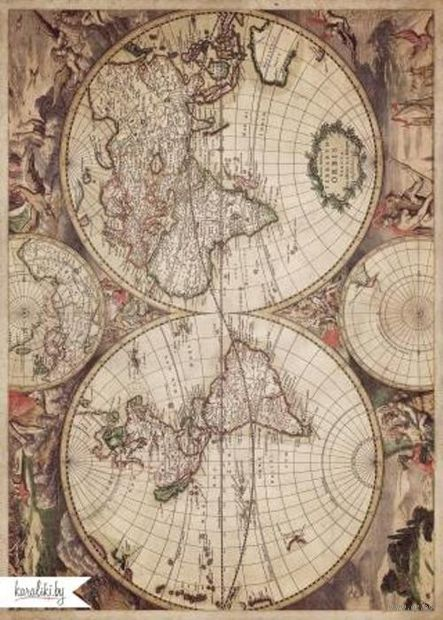 Декупажная карта (А4; арт. Karal079)