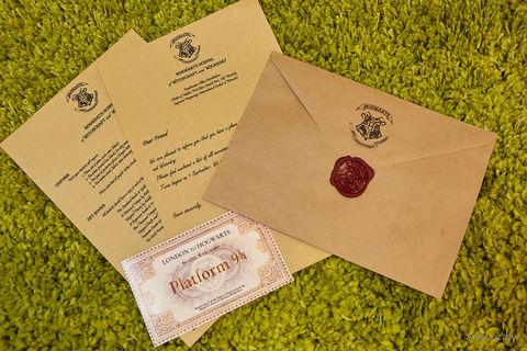 """Сувенирный набор """"Письмо из Хогвартса"""" (крафт-конверт)"""