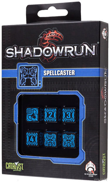 "Набор кубиков ""Shadowrun Spellcaster"" (6 шт.; синий) — фото, картинка"