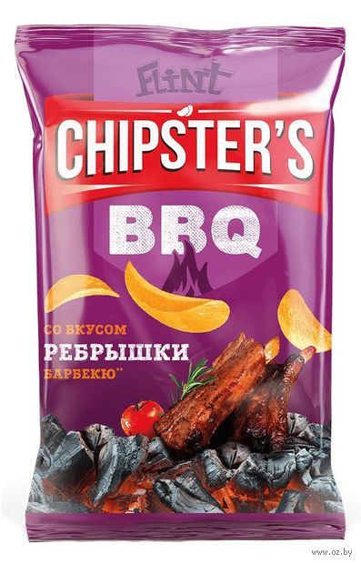 "Чипсы картофельные ""Chipster's. Ребрышки барбекю"" (70 г) — фото, картинка"