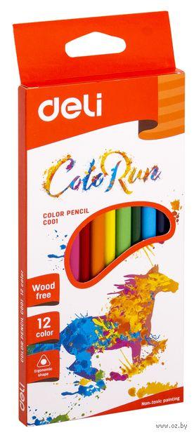 """Набор карандашей цветных """"ColoRun"""" (12 цветов) — фото, картинка"""