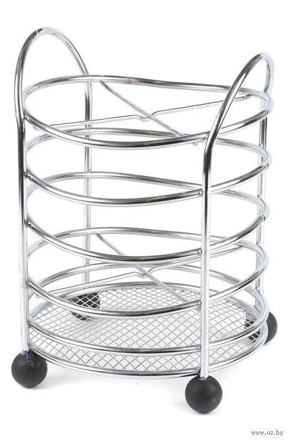 Подставка для столовых приборов металлическая (13,5х13,5х19 см)