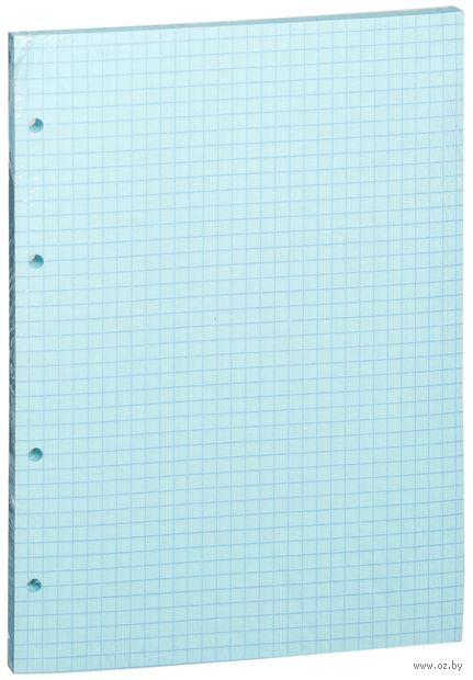 Сменный блок для тетради на кольцах (А5; 80 листов; цвет: голубой)