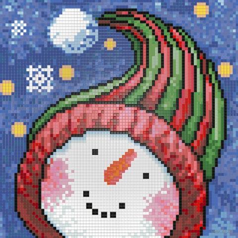 """Алмазная вышивка-мозаика """"Портрет снеговика"""""""