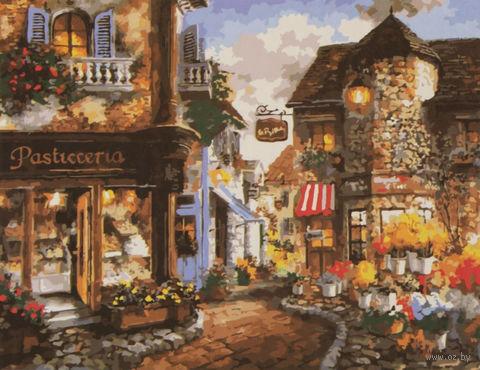 """Картина по номерам """"Милая европейская улица"""" (400x500 мм) — фото, картинка"""