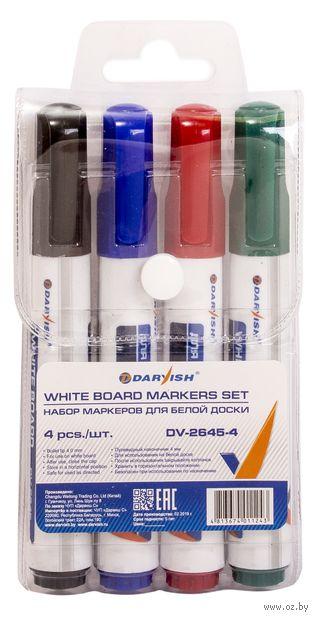 "Набор маркеров для доски ""Darvish"" (4 цвета; арт. DV-2645-4) — фото, картинка"