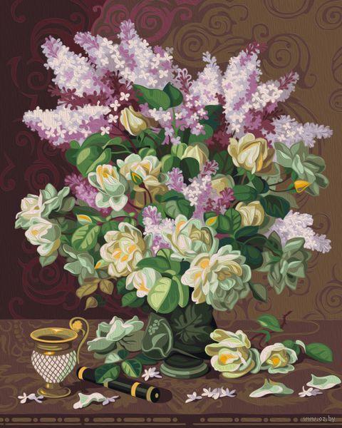 "Картина по номерам ""Сирень и английские розы"" (400х500 мм) — фото, картинка"