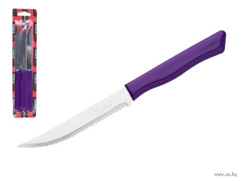Нож для стейка (3 шт.; фиолетовый) — фото, картинка