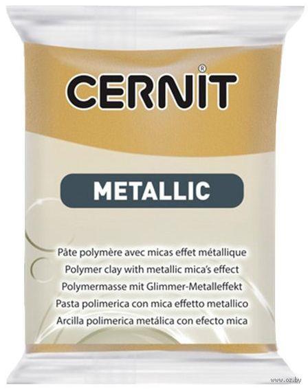 """Глина полимерная """"CERNIT Metallic"""" (темное золото; 56 г) — фото, картинка"""
