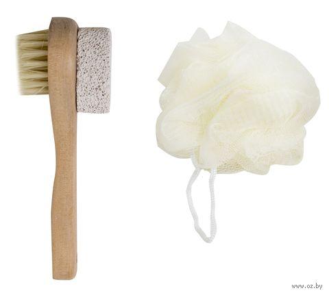 Набор для ванной (2 предмета: мочалка, щетка)