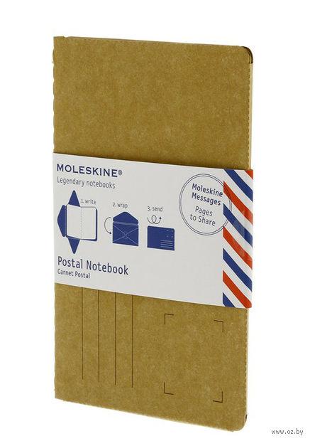 """Почтовый набор Молескин """"Postal Notebook"""" (большой; мягкая обложка, цвет: горчичный)"""