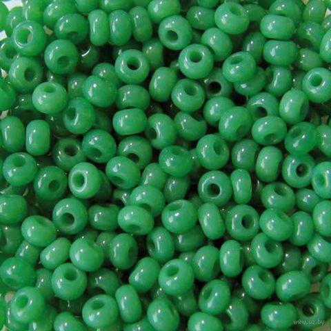 Бисер №52240 (зеленый; 10/0)