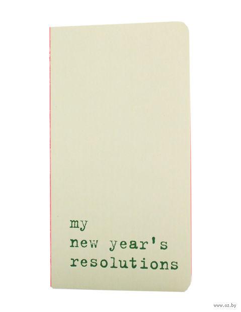 """Записная книжка Молескин """"Chapter. My New Year's Resolutions"""" в точку (карманная; мягкая светло-зеленая обложка)"""