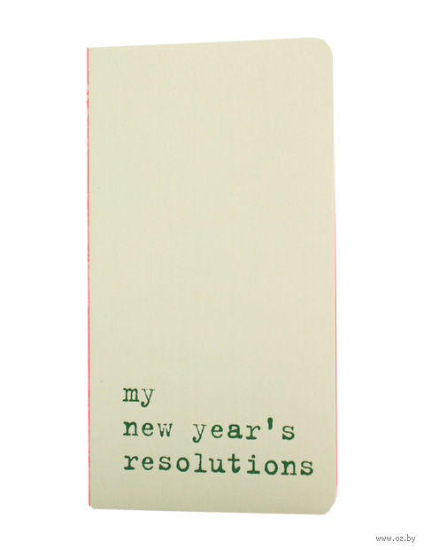 "Записная книжка в точку ""Chapter. My New Years Resolutions"" (75х140 мм; светло-зеленая) — фото, картинка"