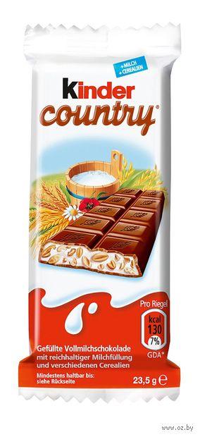 """Шоколад молочный """"Kinder Chocolate. Со злаками"""" (23,5 г) — фото, картинка"""