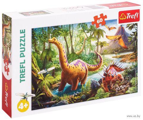 """Пазл """"Странствующие динозавры"""" (60 элементов) — фото, картинка"""