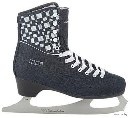 """Коньки фигурные """"Fashion Lux Jeans"""" (р. 41; синие) — фото, картинка"""