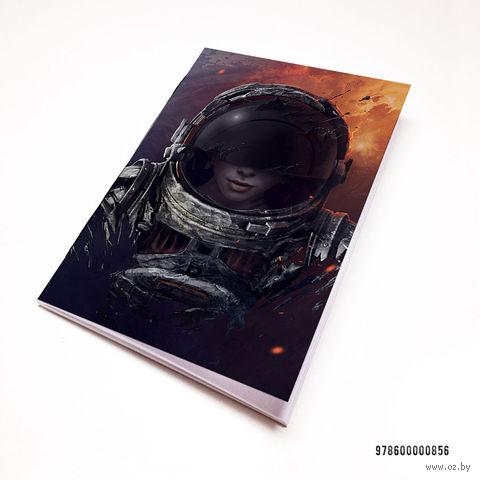 "Блокнот белый ""Космонавт"" А7 (856)"