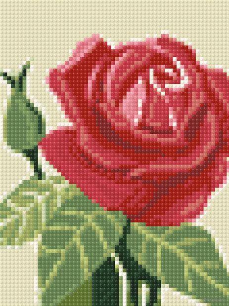 "Алмазная вышивка-мозаика ""Розочка"" (150х200 мм) — фото, картинка"