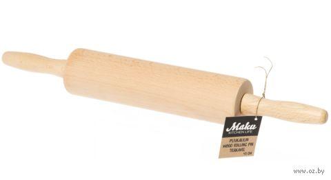 Скалка деревянная с ручками (430 мм) — фото, картинка