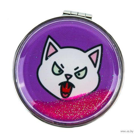 "Зеркало карманное ""Meow"" (арт. ZKVH-0017) — фото, картинка"