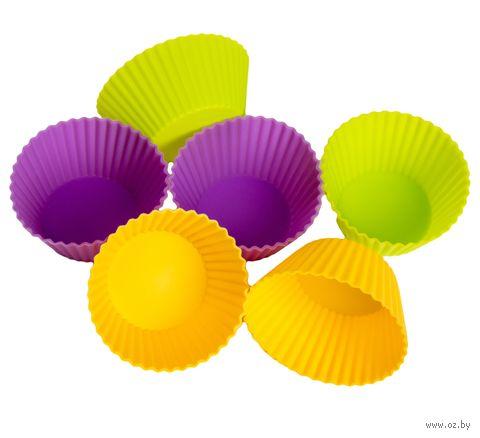 Набор форм для выпекания силиконовых (6 шт.; 70х45х38 мм)