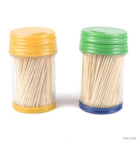 Набор зубочисток деревянных в пластмассовых подставках (250 шт.; 2 подставки; арт. GL039A)