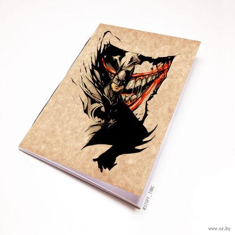 """Блокнот крафт """"Бетмен и Джокер"""" А7 (046)"""