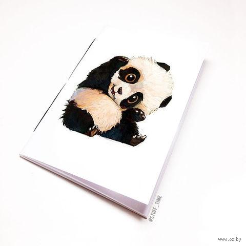 """Блокнот белый """"Панда"""" А5 (509)"""