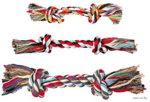 """Игрушка для собак """"Веревка с двумя узлами"""" (26 см) — фото, картинка"""