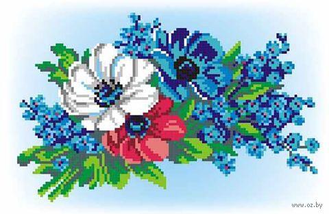 """Вышивка крестом """"Букет в три цвета"""" (150x230 мм) — фото, картинка"""