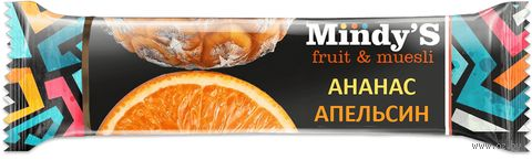 "Батончик ""Mindy'S. Ананас и апельсин"" (35 г) — фото, картинка"
