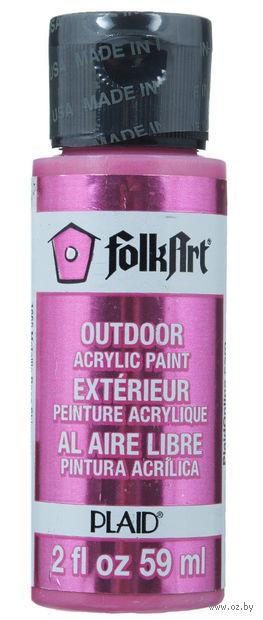 "Краска акриловая ""FolkArt. Metallic"" (розовый, 59 мл; арт. PLD-01665)"