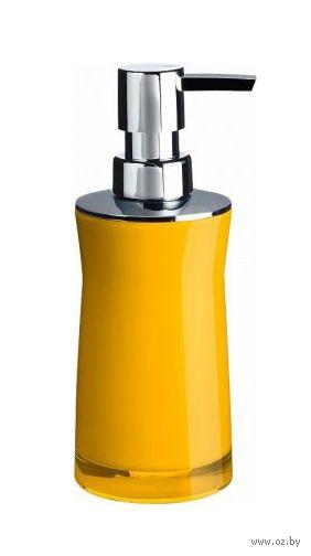 """Дозатор для жидкого мыла акриловый """"Disco Yellow"""" (65х65х190 мм) — фото, картинка"""