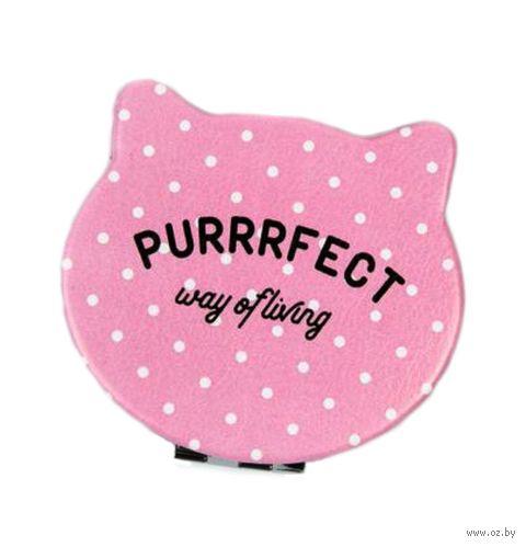 """Зеркало карманное """"Purrrfect"""" — фото, картинка"""