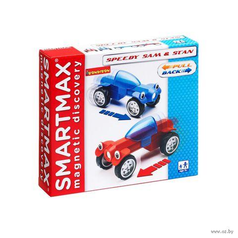 """Конструктор магнитный """"SmartMax. Гонщики Сэм и Стэн"""" (8 деталей)"""