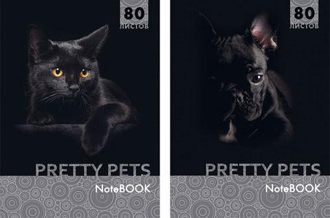 """Блокнот в клетку А5 """"Pretty Pets"""" 80 листов (ассорти)"""