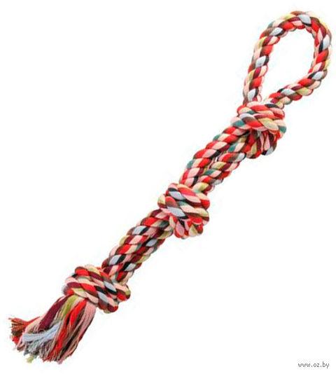 """Игрушка для собаки """"Веревка с тремя узлами"""" (60 см)"""