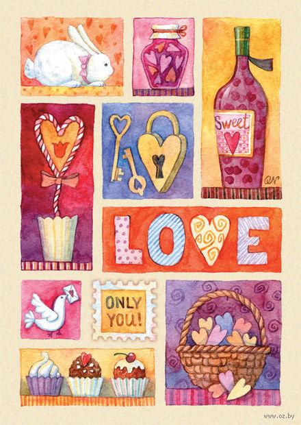 """Открытка """"Love"""" (двойная) — фото, картинка"""