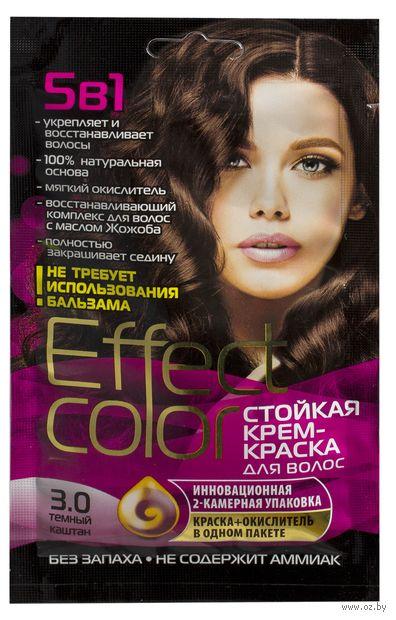 """Крем-краска для волос """"Effect Сolor"""" (тон: 3.0, темный каштан) — фото, картинка"""