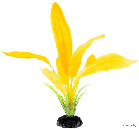 """Декорация для аквариума """"Эхинодорус"""" (20 см; желтая) — фото, картинка"""