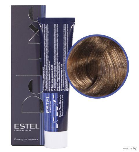 """Краска-уход для волос """"Estel. De Luxe"""" тон: 8.75, светло-русый коричнево-красный — фото, картинка"""