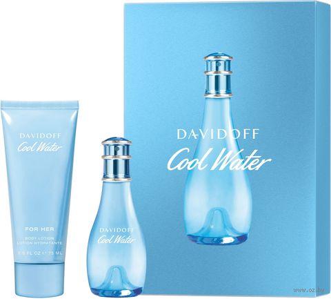 """Подарочный набор """"Cool Water"""" (туалетная вода, гель для душа) — фото, картинка"""