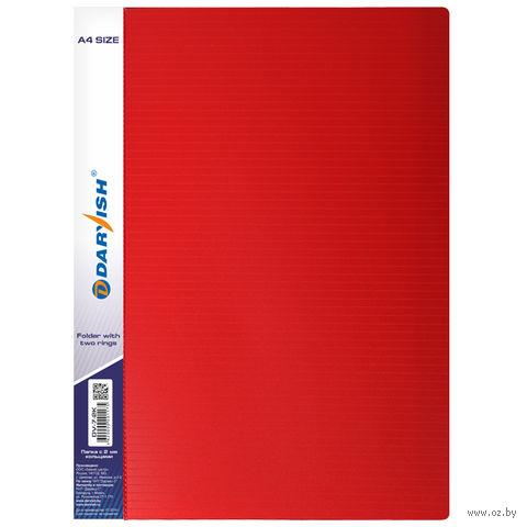 """Папка """"Darvish"""" на 2-х кольцах DV7-2K (А4/25 мм; цвет: красный)"""