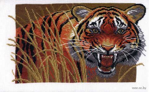 "Вышивка крестом ""Тигр на охоте"""